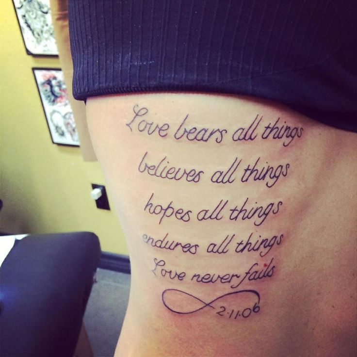 1 corinthians 13 tattoo infinity the image kid has it. Black Bedroom Furniture Sets. Home Design Ideas