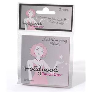 HOLLYWOOD FASHION SECRETS TOUCH UPS LINT REMOVER 2 X 30 SHEETS