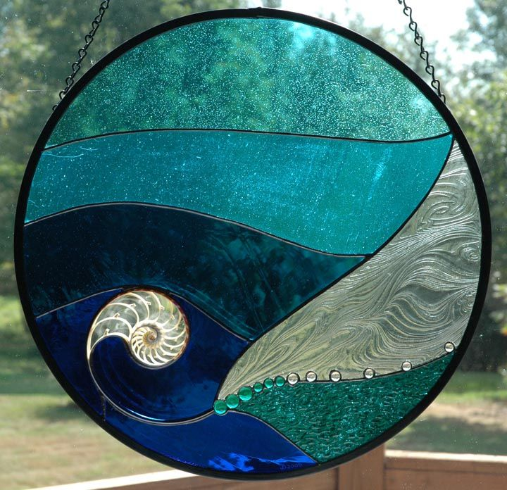 stained glass patterns using agate slices | Stained Glass Panels