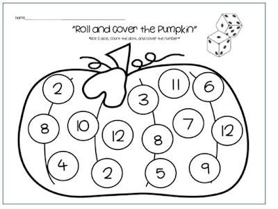Roll and Cover - Maybe replace with dots on each circle instead of numbers for younger learners.