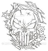 Punisher Skull Tattoo by Metacharis