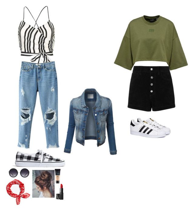 """""""Untitled #15"""" by alexia-nistor on Polyvore featuring Alice + Olivia, Madewell, rag & bone, NARS Cosmetics, Maybelline, rag & bone/JEAN and adidas"""