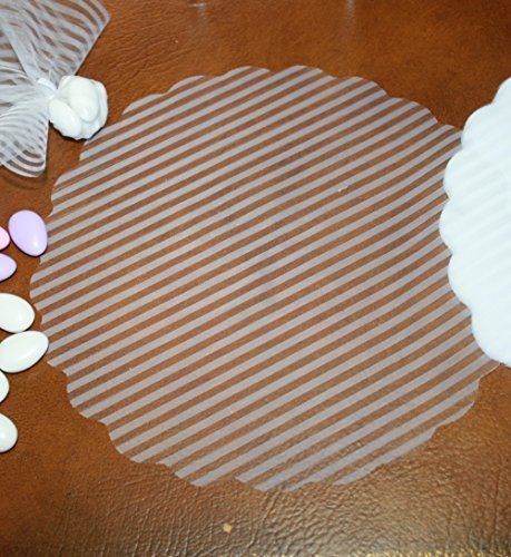 White Shiny White Italian Organza Tulle Circles with Stripes - Pack of 25 FavorOnline http://www.amazon.com/dp/B00LBNL572/ref=cm_sw_r_pi_dp_tTY-wb0NY6Y8F