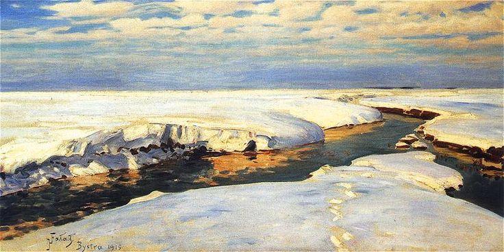 Julian Fałat - Krajobraz zimowy, 1915