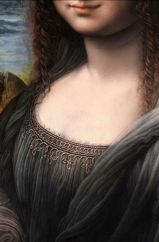 Mona Lisa, detail. Smile like this all the time, for you have many secrets, and you keep them so well. ~ETS