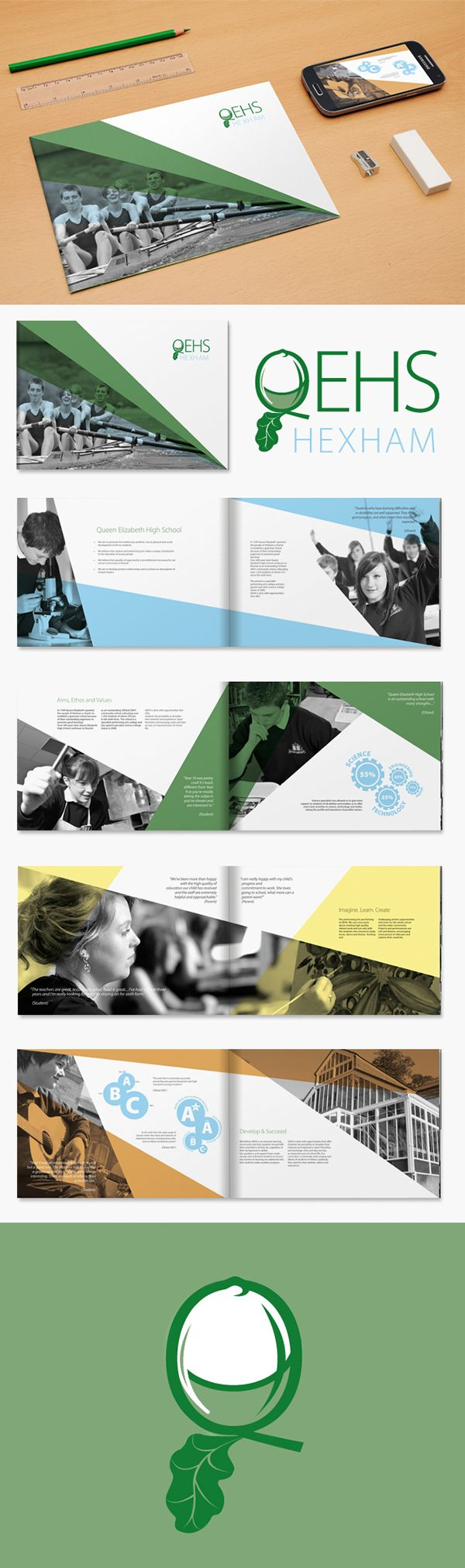 School Prospectus & Logo Design on Behance Layout Editorial