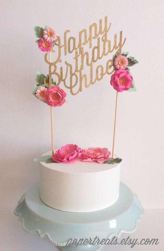 Personalizado boda o cumpleaños papel floral pastel por papertreats