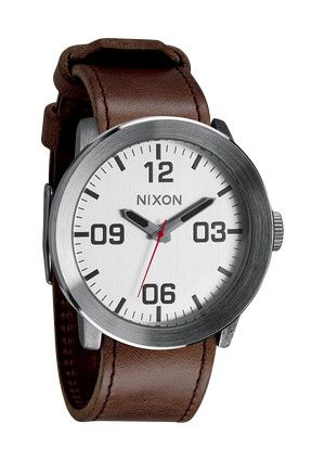 Reporting for duty is a watch that's simply, functional and rugged: the all new Corporal. With a Horween leather or canvas band, stainless and enamel case and a no-fuss, modern face design, it's tough enough to see you through your most hardcore assignments - and good enough to sport off-duty.