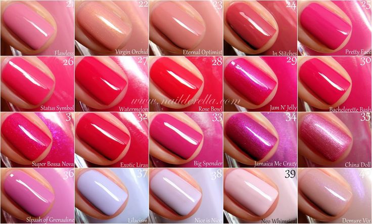 Essie Color guide #1-100! | Nailderella