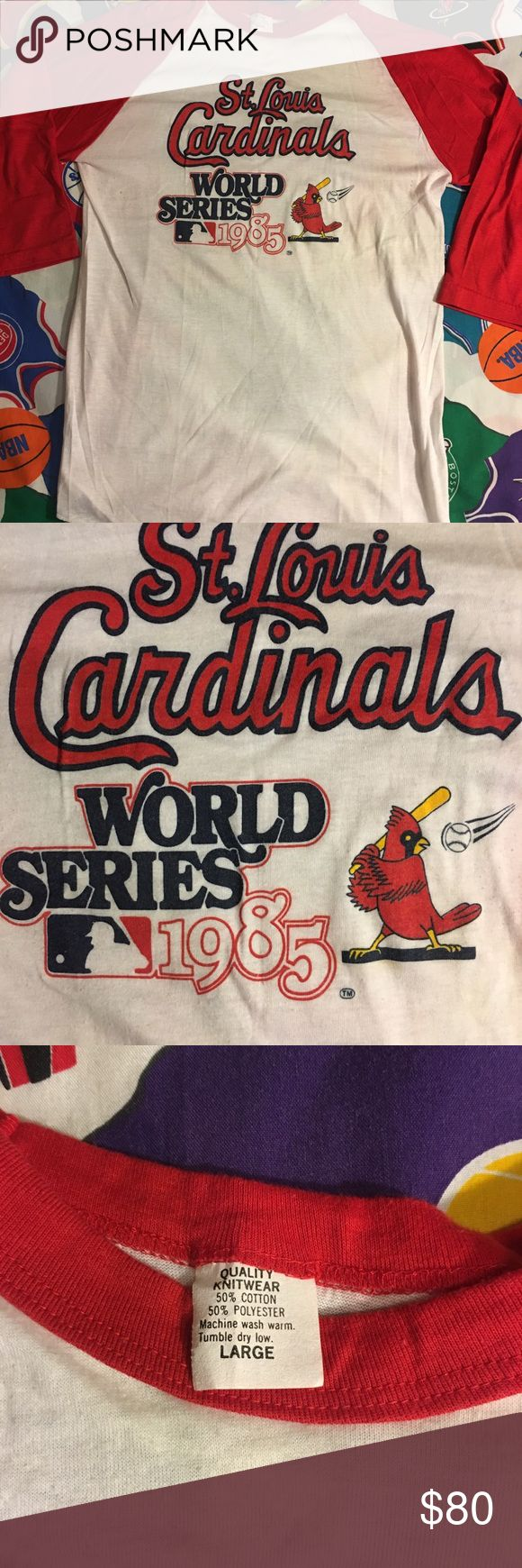 Vintage 1985 STL Cardinals World Series shirt Vintage 1985 STL Cardinals World Series shirt women's size Large was purchased at the stadium can't find another one like it. Excellent condition for its age has some pilling as can be seen in pics but should be easily taken care of quality knitwear Tops Tees - Short Sleeve