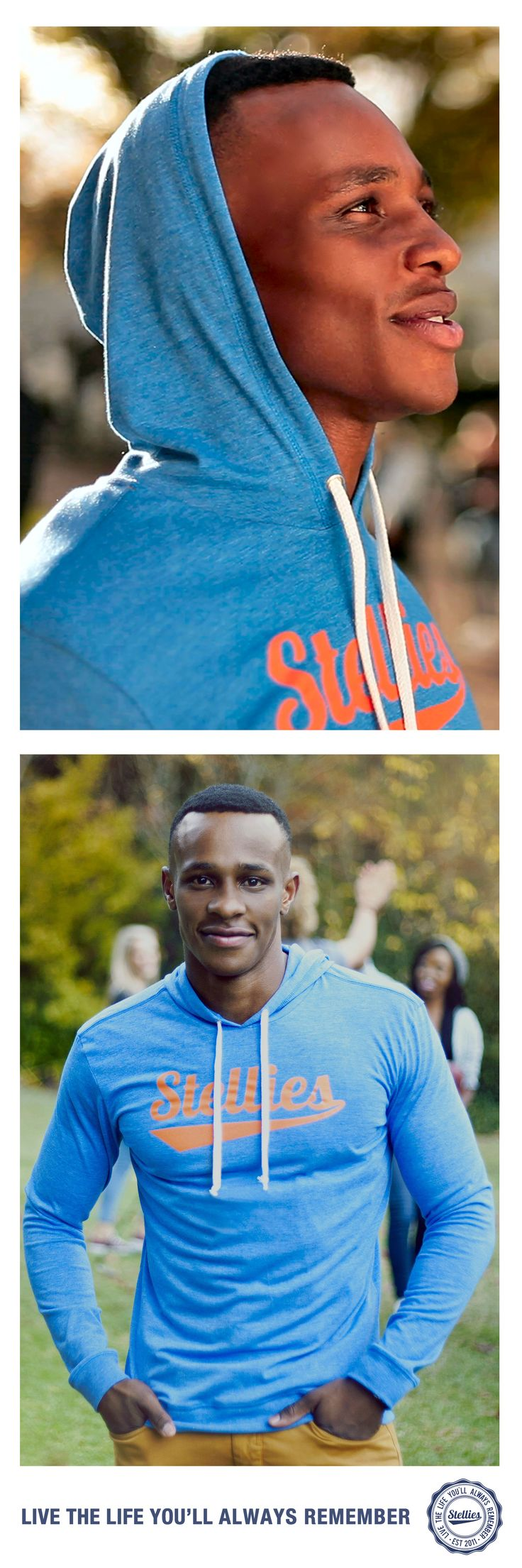 Petrol Blue Hoodie by Stellies™ Check us out at www.stelliesTM.co.za © Stellies 2014