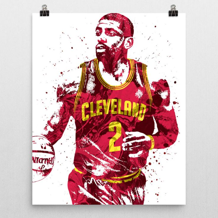 Kyrie Irving poster. Irving is an American professional basketball player for the Cleveland Cavaliers of the NBA. He played college basketball for Duke University before being selected with the first