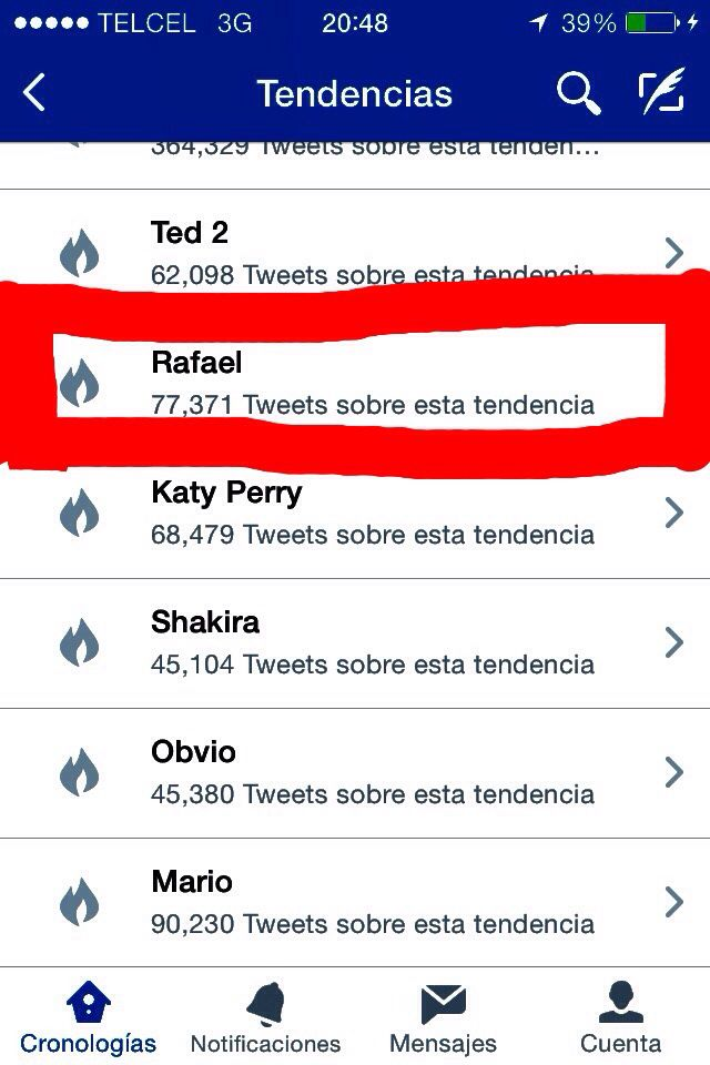 Mi nombre es tendencia en #Twitter  #LikeABoss #RafaelPower #JustRafa #MyNameIsTheBest #OkNo #TeCreasSiEsElMejor