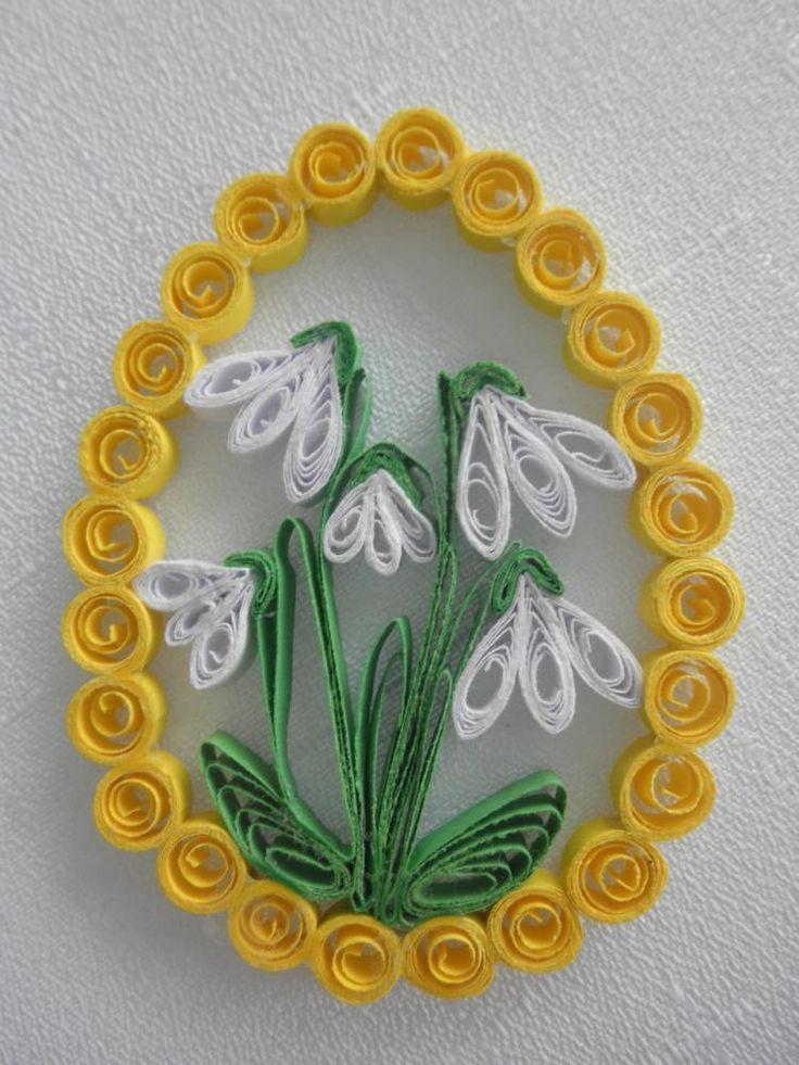 Dekorácie - Veľkonočné vajíčko - snežienka - 3745783_