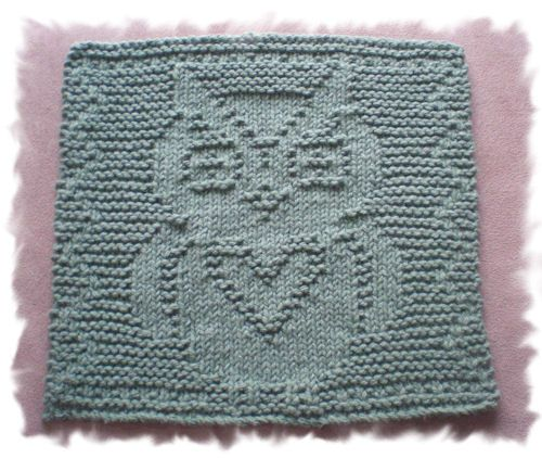 Owl Dishcloth Knitting Patterns Free : Best dishclothes images on pinterest knitted