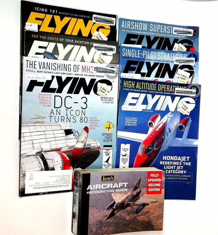 Flying Most Widely Read Aviation Magazines And Janes Aircraft Recognition Book