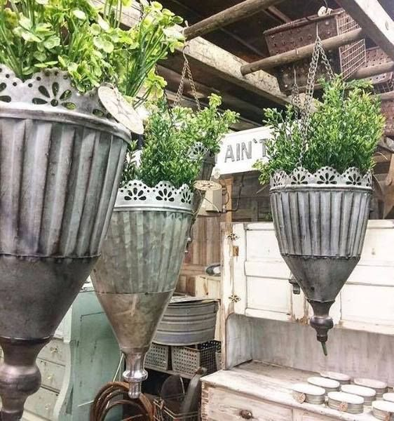 Set Of 3 Tin Hanging Planters Hanging Planters Outdoor Hanging Planters Hanging Plants Indoor
