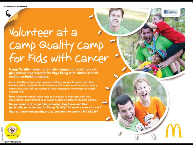 Camp quality needs male volunteers