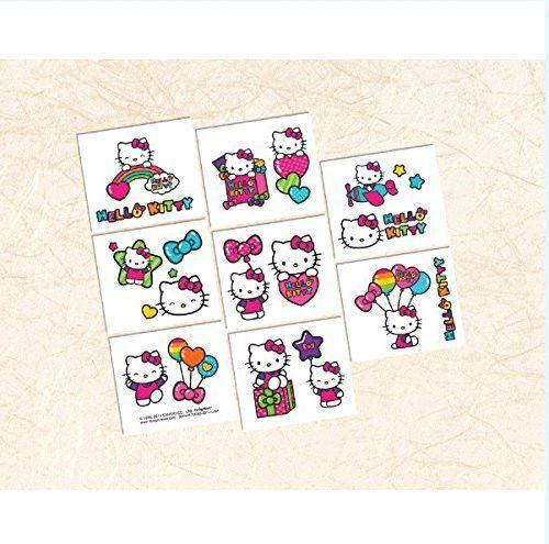 Hello Kitty Rainbow Tattoo Sheets, 4ct.