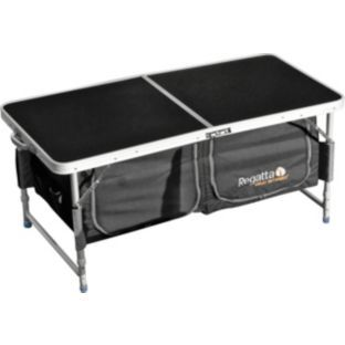 buy regatta folding camping table with storage at. Black Bedroom Furniture Sets. Home Design Ideas