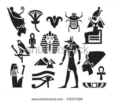 egyptian symbols of royalty | Egyptian Symbols free vector