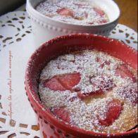 Receita francesa: Clafoutis (com espelta) de morangos