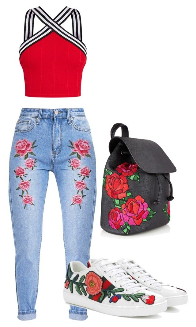 """roses are red..."" by outherspace on Polyvore featuring Gucci"