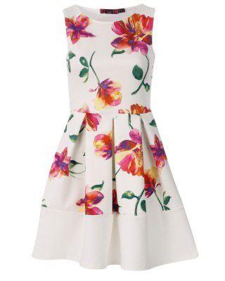 Beach, festival or wedding? Beautiful floral skater dress £19.95 UK8-16 Available at www.chameleonclothinguk.co.uk