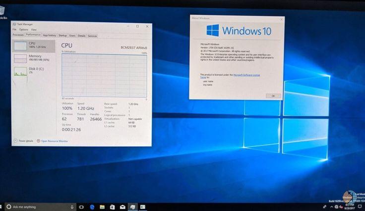 Pełny Windows 10 odpalony na Raspberry pi 3