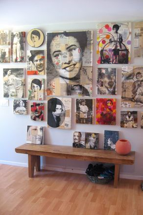 collage wall;; j'adore!!!!