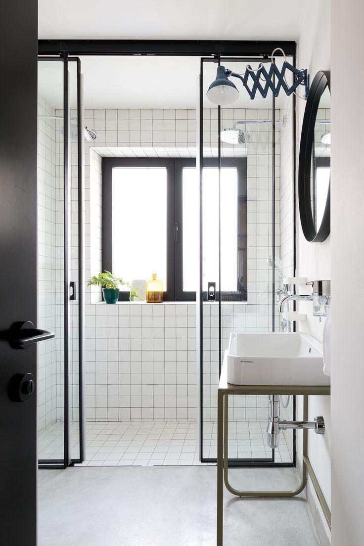 Lesscare clear glass shower door ultra b 44 48 wide x 76 high chrome - Dom Katarine