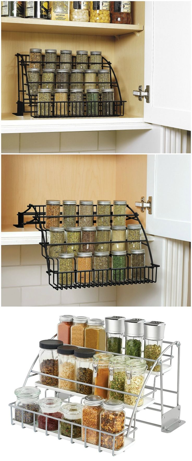 Rubbermaid Pull Down Spice Rack. Maximize storage plus easy access. #affiliate d'autres gadgets ici : http://amzn.to/2kWxdPn