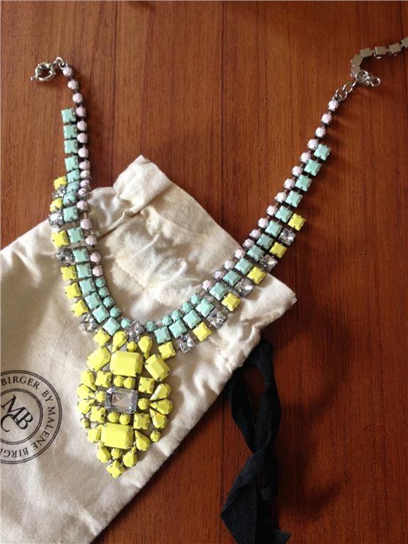 Annons på Tradera: Fantastiskt Statement halsband By Malene Birger