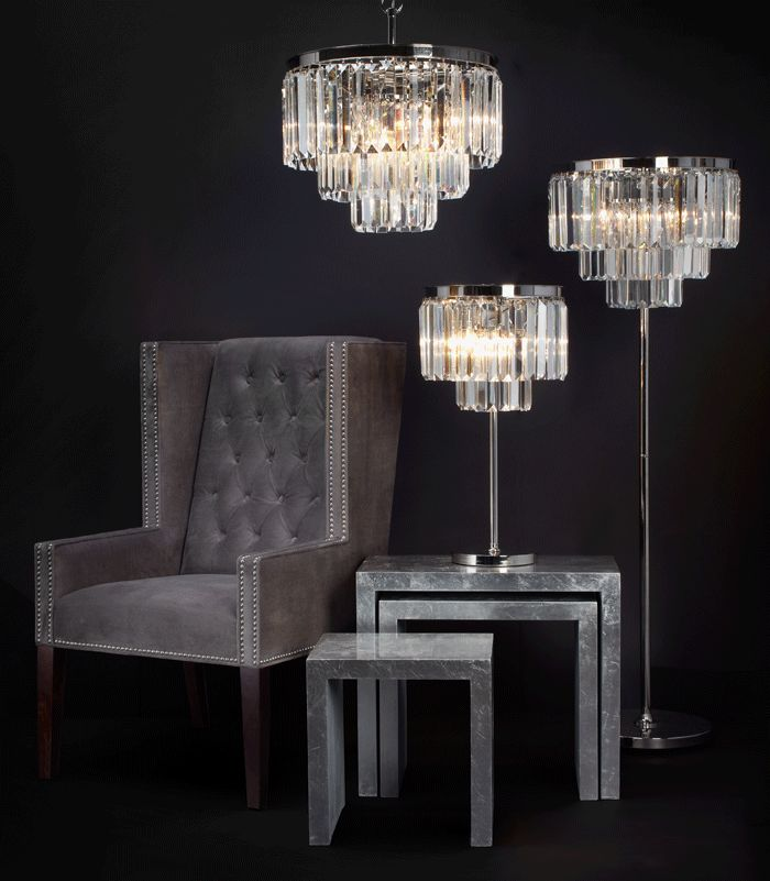 Luxe crystal floor lamp from z gallerie