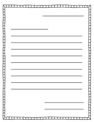 Cele mai bune 25+ de idei despre Letter writing template pe - printable writing lines
