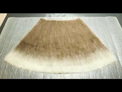 Валяние из шерсти ✿ Юбка ✿ Felted wool skirt ✿ Мастер-класс Екатерины Коршун - YouTube