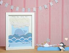 Pink Puffin Crafts | Framed Collection | Whale Dreams | £25 | www.pinkpuffincrafts.co.uk