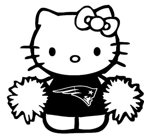New Custom Screen Printed T-shirt Hello Kitty Patriots Cheerleader Cut – D&S Screen Printed T-shirts