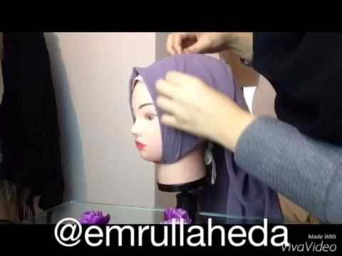 Hijab Tutorial Nr.1 by Emrullaheda - YouTube