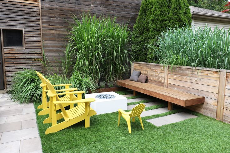 Floating Ipe bench and Rymar artificial turf
