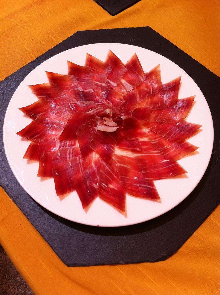 7 mejores im genes sobre platos de jam n cortados a mano - Platos con jamon iberico ...