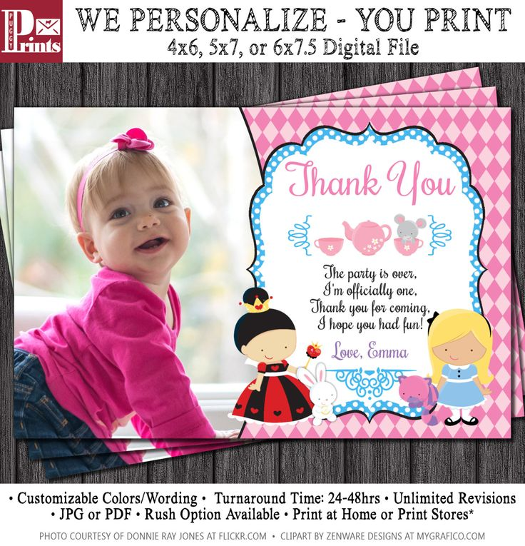 The 25 best Birthday thank you cards ideas – First Birthday Thank You Cards