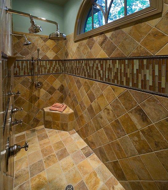 Travertine Shower Ideas 544 best stunning showers images on pinterest | bathroom ideas