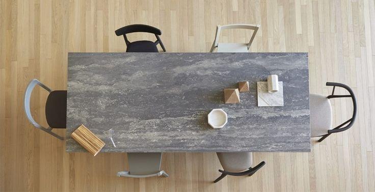 Tavolo da pranzo rettangolare in ceramica GUSTAVE | Tavolo in ceramica - Miniforms
