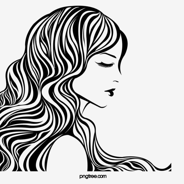 Black Line Side Face Curly Woman Black Side Face Curly Hair Png Transparent Clipart Image And Psd File For Free Download In 2020 Skull Sketch Background Banner Abstract Artwork