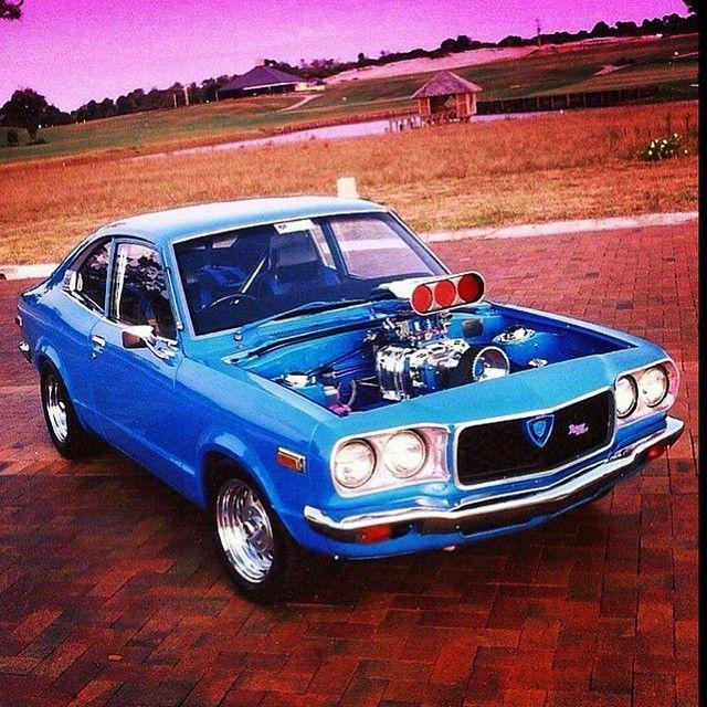 BAD THREE  #Mazda #rx3 #coupe #supercharged #brap #braplife #bridgeport #burnouts #buzzin #skids #caged #rotor #rotang #rotary #rotate #rotoriuz #rotangklan #rotarypower #10a #12a #13b #20b #26b #instarotary