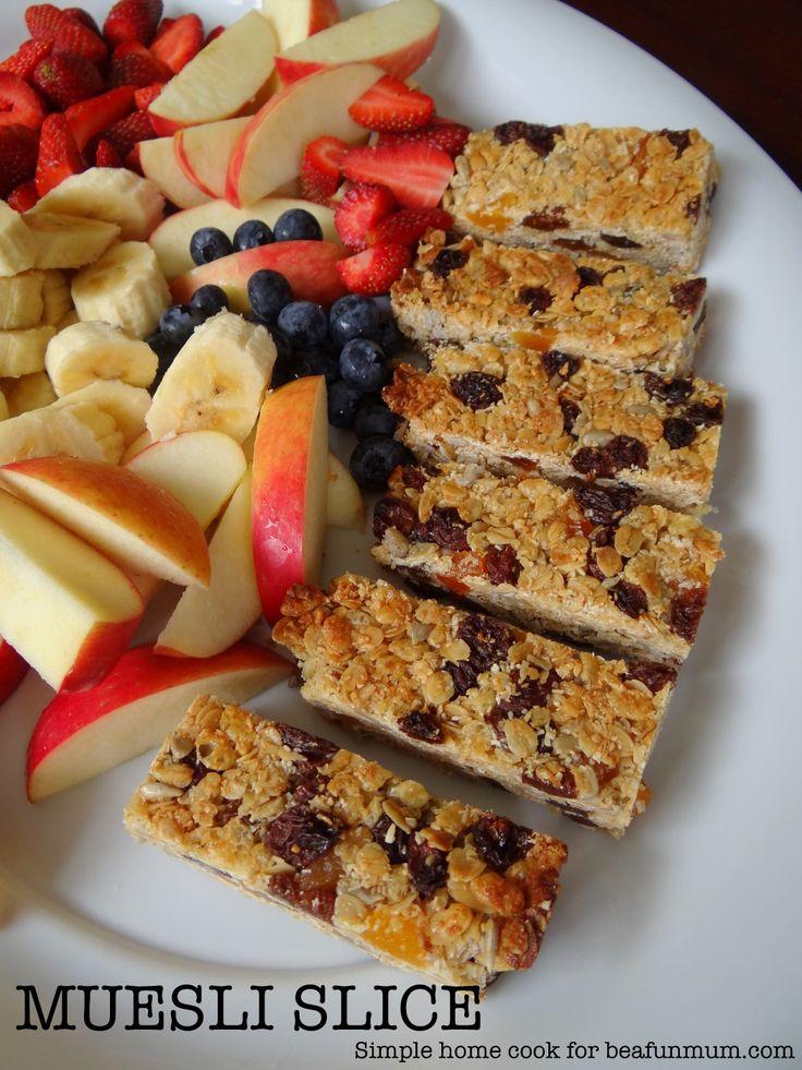 Muesli Slic Recipe (nut free) - Lunch Box Recipes