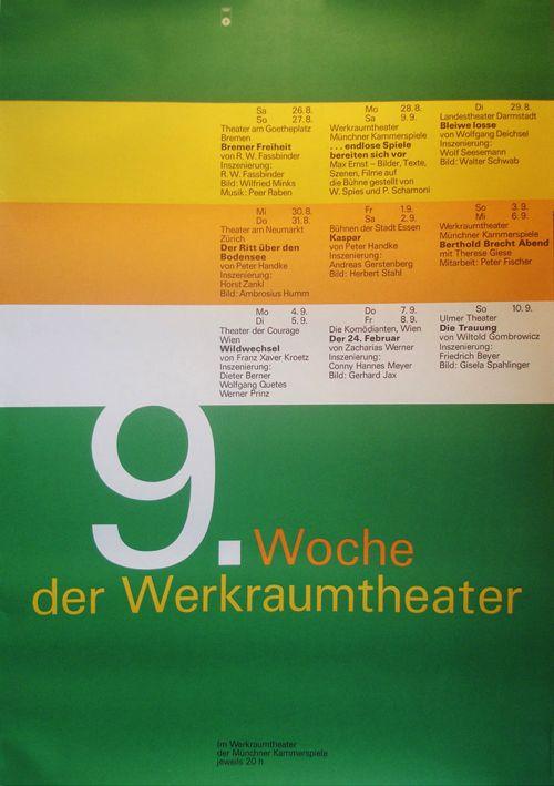 Olympic Games Munich / Werkraumtheatre / Calendar / Poster / 1972
