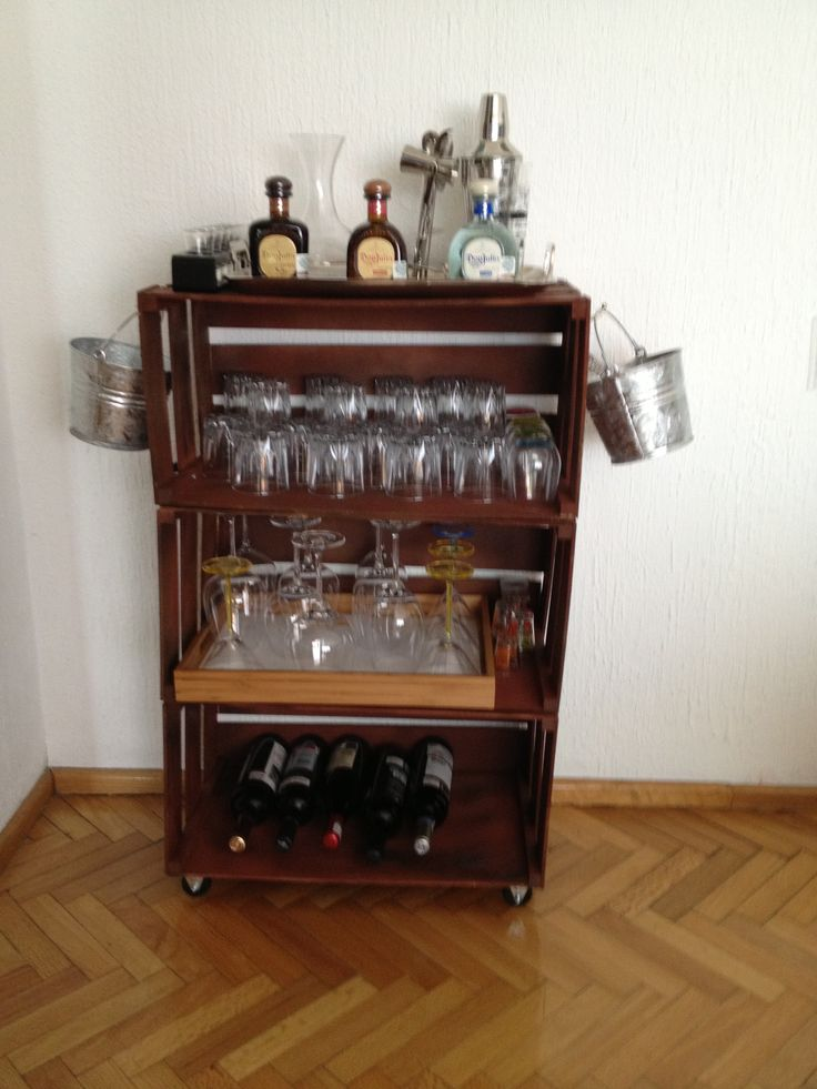 Home Made Mini Bar Mini Bar Ideas Pinterest Home