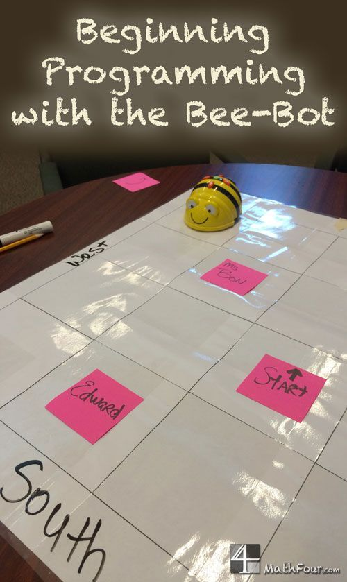 """The bee-bot programmable robot teaches logic, the basics of programming and how a computer """"thinks."""" ~Bon"""